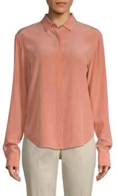 Donna Karan Crepe De Chine Silk Shirt