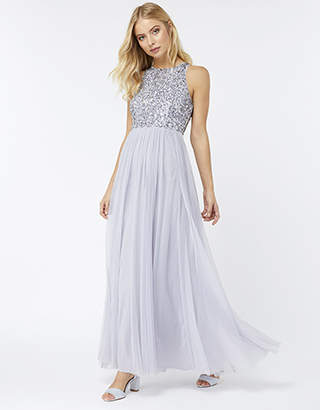 Monsoon Scarlett Embellished Tulle Maxi Dress