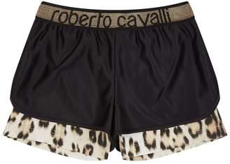Roberto Cavalli Double Layer Leopard Print Shorts