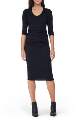 Women's Michael Stars Ruched Midi Dress $68 thestylecure.com