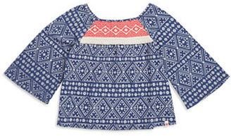 Lucky Brand Girls 7-16 Geometric Floral Peasant Top $34 thestylecure.com