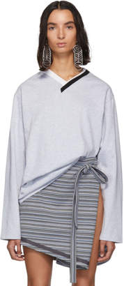 Y/Project Grey Multi Collar Long Sleeve T-Shirt