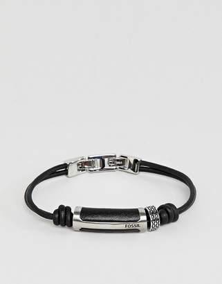 Fossil mens stainless steel bracelet