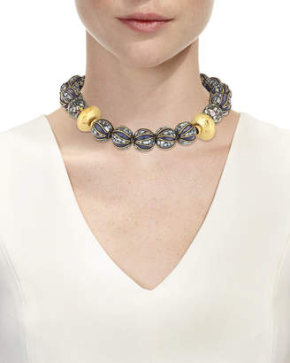 Devon Leigh Lapis & Abalone Beaded Necklace