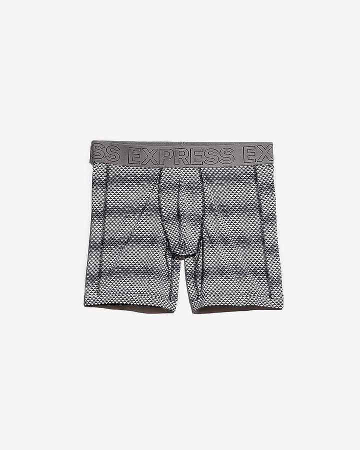 Express Triangle Print Performance Boxer Briefs
