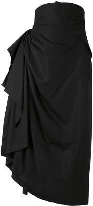 aganovich draped skirt