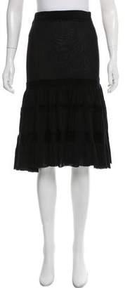 Jean Paul Gaultier Ruffled Knee-Length Skirt