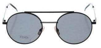 Fendi Tinted Aviator Sunglasses