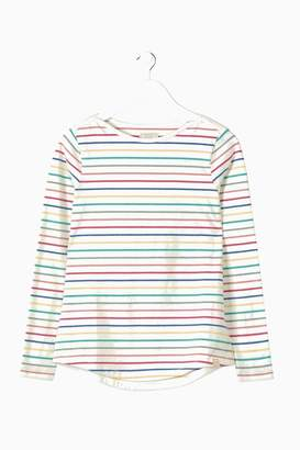 Fat Face Womens FatFace Natural Organic Cotton Multi Breton Tee - Natural