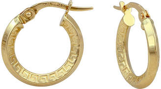 FINE JEWELRY 14K Yellow Gold Polished 19mm Greek Key Hoop Earrings
