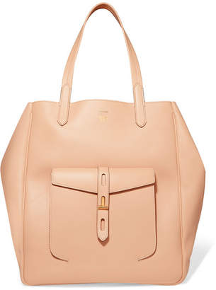 Tom Ford Hollywood Large Leather Tote - Beige