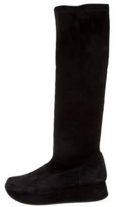 Stephane Kélian Suede Knee-High Boots Black Stephane Kélian Suede Knee-High Boots