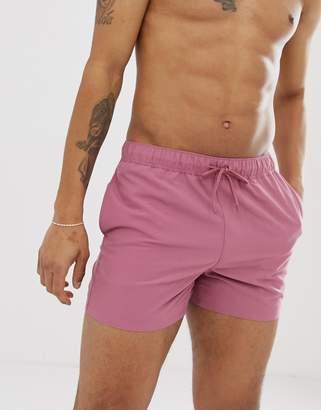 3f3364a2c4 Asos Design DESIGN swim shorts in dusty pink short length