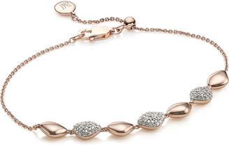 Monica Vinader Nura Teardrop 18ct rose-gold and diamond bracelet
