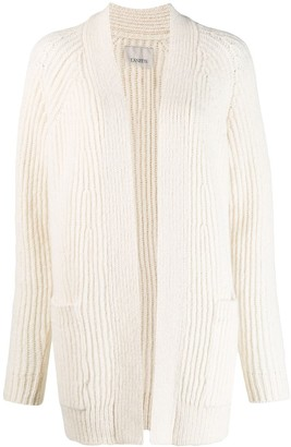 Laneus ribbed knit cardi-coat