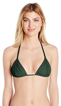 Pilyq Women's Isla Triangle Halter Bikini Top