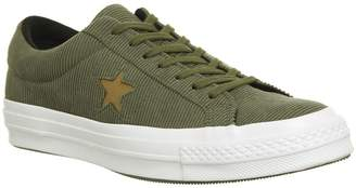51f811a7f0afe0 Converse One Star Trainers Medium Olive Caramel