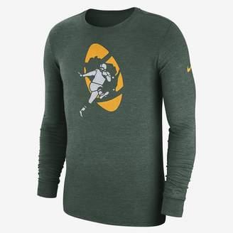 Nike NFL Packers) Men's Tri-Blend Long Sleeve T-Shirt