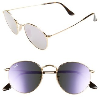 Women's Ray-Ban Icons 50Mm Round Sunglasses - Lilac $175 thestylecure.com