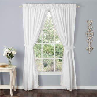 Laura Ashley Annabella White Rod Pocket Window Panels Bedding