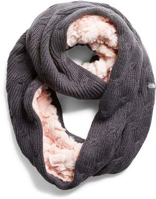 The North Face Furry Faux Fur & Knit Infinity Scarf
