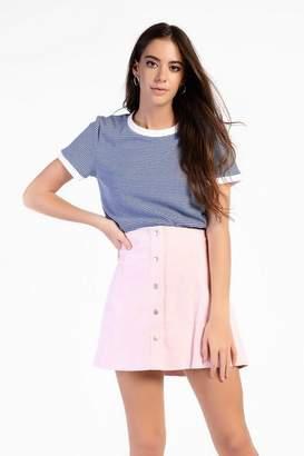 Glamorous **Button Front Corduroy Skirt