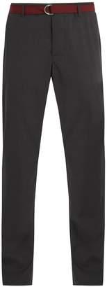 Prada Straight-leg wool trousers with belt