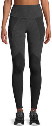 Beyond Yoga High-Waist Space-Dye Paneled Full-Length Leggings