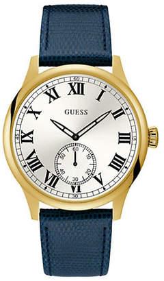 GUESS U1075G2 Goldtone Leather Strap Watch