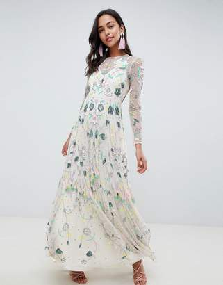 Asos Edition EDITION delicate floral embellished maxi dress