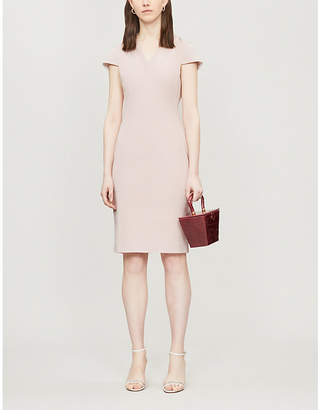 Ted Baker Capped-sleeve stretch-jersey pencil dress