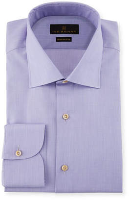 Ike Behar Marcus Solid Cotton Barrel-Cuff Dress Shirt