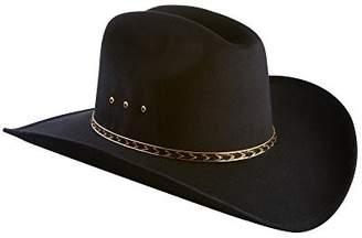 Express Western Faux Felt Wide Brim Western Cowboy Hat Elastic Band-L/XL