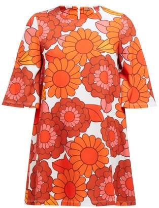 Dodo Bar Or Zosha Floral Print Crepe Mini Dress - Womens - Orange White