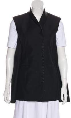 Balenciaga Silk-Blend Structured Vest