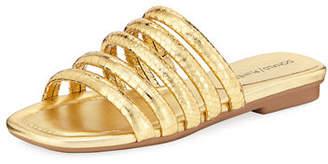 Donald J Pliner Kip Banded Python-Embossed Slide Sandal