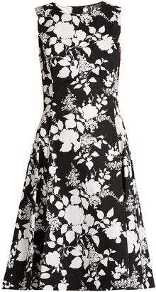 OSCAR DE LA RENTA Rosebush-print sleeveless cotton dress $990 thestylecure.com