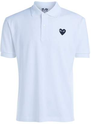 Comme des Garcons Play Polo Playwhite T-shirt With Black Heart