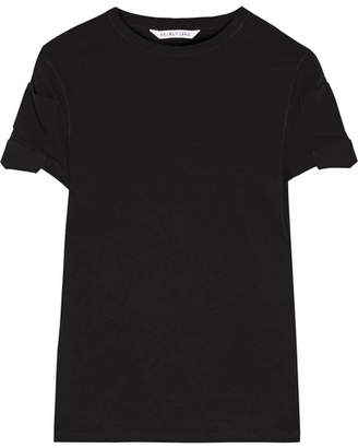 Helmut Lang - Cotton-jersey T-shirt - Black $140 thestylecure.com
