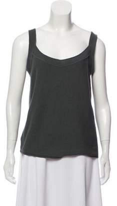 Armani Collezioni Sleeveless Wool Top Grey Sleeveless Wool Top