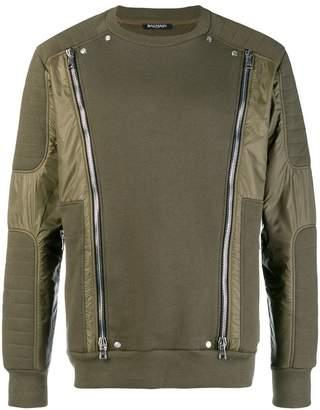 Balmain zipped sweatshirt