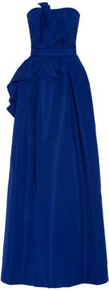 Carolina Herrera Bustier Belted Gown
