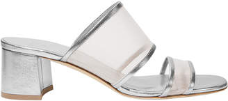 Maryam Nassir Zadeh Martina Mesh Silver Slide Sandals