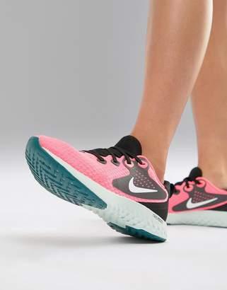 Nike Running Rebel React Sneakers In Hot Pink