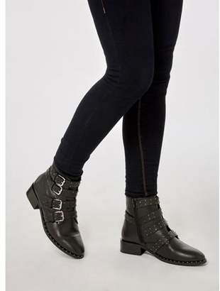 Dorothy Perkins Womens Black 'Automatic' Leather Boots