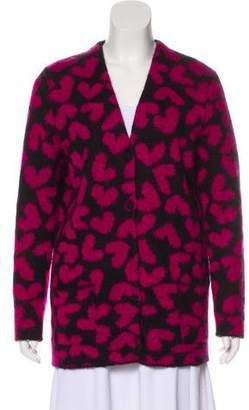 Saint Laurent Mohair-Blend Knit Cardigan