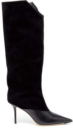 Jimmy Choo Brelan 85 Suede Knee High Boots - Womens - Black