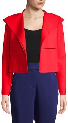 Oscar de la Renta Women's Cropped Drape Wool Blazer