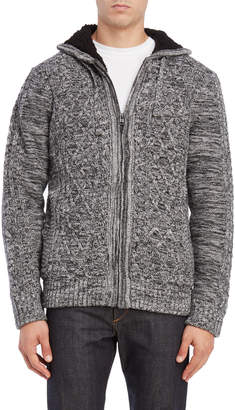 Buffalo David Bitton Cable Knit Zip Front Sweater