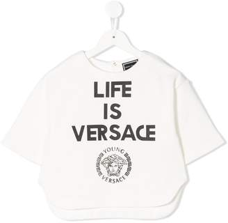 Versace White Girls' Shirts & Blouses - ShopStyle